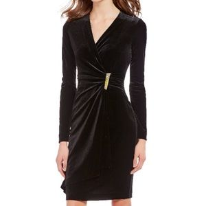 Calvin Klein Velvet Wrap dress